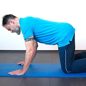 Übungen Physiotherapie Kräftigung Rücken und Rumpf